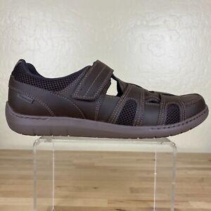 Dunham-Fitsmart-Fisherman-Sandals-Mens-Size-12-4E-Brown-Leather