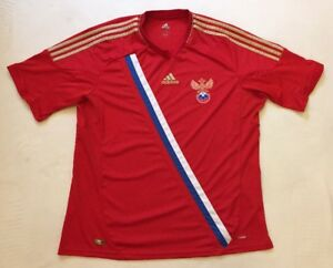 50d80c8a Russia 2012 Home Adidas Football shirt SIZE XL 'FEDERATION WORLD CUP ...