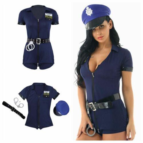 Mujer Adulto de Policía Disfraz Cosplay Vestido de disfraz uniforme trajes de oficina 4 un.