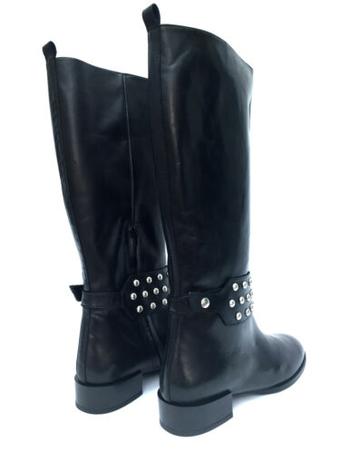 ZARA sale LEATHER STUDDED MID CALF BOOTS UK 5 7 RRP £99.99