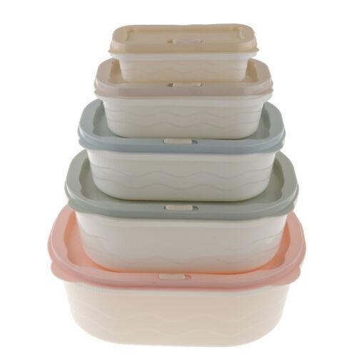 Plastic Food Fresh Storage Box Set Vegetable Crisper Containers Keeper Case