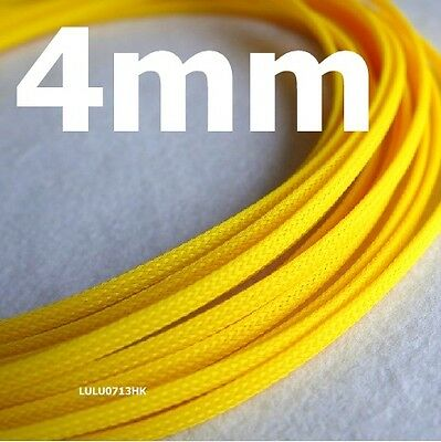 4mm Yellow Expandable Braided DENSE Cable Sleeve x5m
