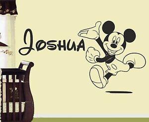 Micky-Maus-Personalisiert-wandkunst-sticker-abziehbild-kinderzimmer ...