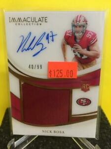 Nick-Bosa-2019-Immaculate-Collection-Auto-Jersey-Relic-RC-40-99-PP-NB-49ers
