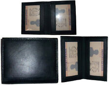 New Slim Leather Business Card Case Black Id Credit Card Picture Card Case Bnwt