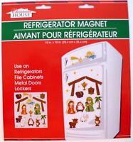 Christmas House Refrigerator / Dishwasher / Metal Doors Magnet Nativity