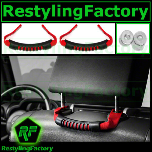 Extreme Ultimate RED Rear Side Grab Handle 1 pair for 07-17 Jeep JK Wrangler