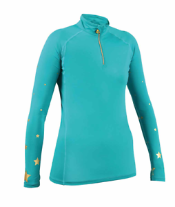 Shires Aubrion Adults Meadowlands Cross Country Shirt - Teal Star