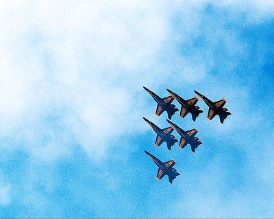 Modellflugzeuge Marine Blue Angels 2015 Punkt Mugu Luft Show 11x14 Silber Halogen Fotodruck Transport 100% True Uns