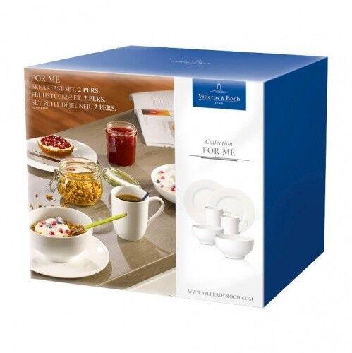Villeroy & Boch 'for me Bianco' una colazione-Set 2 persone 6 pezzi