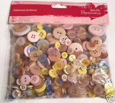Papermania 250 gram bolsa surtido plástico botones colores pastel PASTELES