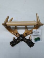 River/'s Edge Unique Deluxe Wood Toilet Paper Holder Deer Antler
