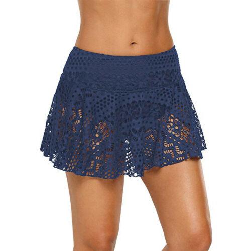 Women/'s Lace Crochet Skirted Bikini Bottom Swimsuit Short Skort Beach Swim Skirt
