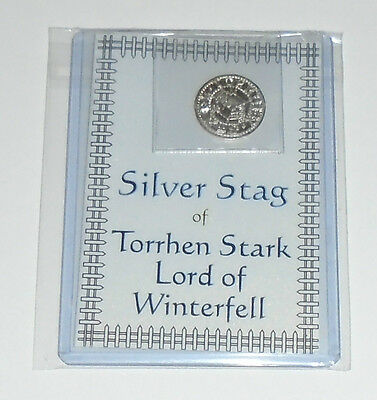 GAME OF THRONES COIN SILVER STAG OF TORRHEN STARK LORD OF WINTERFELL Shire Post