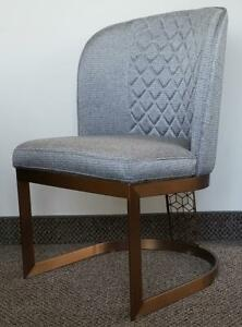 6 - Grey Accent Fabric Chairs w/Brushed Rosegold Frame, Ideal for Restaurants on Clearance SALE Toronto (GTA) Preview
