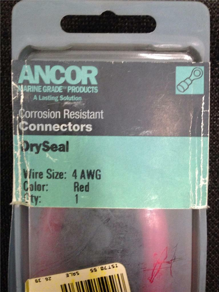 ANCOR 249017 DRY SEAL CONNECTOR 4 AWG GAUGE RED MARINE BOAT