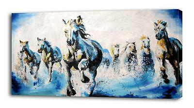 Galloping Horses Painting CANVAS PRINT Wall Decor Art Giclee Animals 4 Sizes