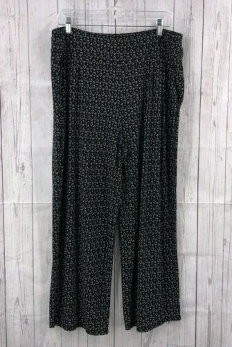 J Jill Gaucho Palazzo Wide Leg Pants Black & White