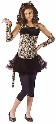 Girls Cat Costume Kitty Leopard Cheetah Halloween Tutu Fancy Dress Childs S M L