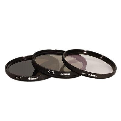 Spar-Set: 49mm Graufilter + MC UV Filter + Polfilter (CPL Polarisationsfilter)