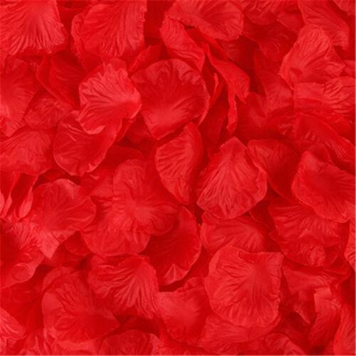 1000PCS FLOWER ROSE PETALS WEDDING PARTY CHURCH DECORATION FLORAL CONFETTI DECOR