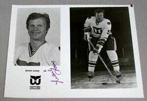 Original-NHL-Mark-Howe-Hartford-Whalers-Signed-Hockey-Press-Photo