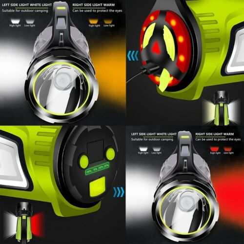 100W Powerful Searchlight LED Flashlight USB Rechargeable Standby Torch Lantern