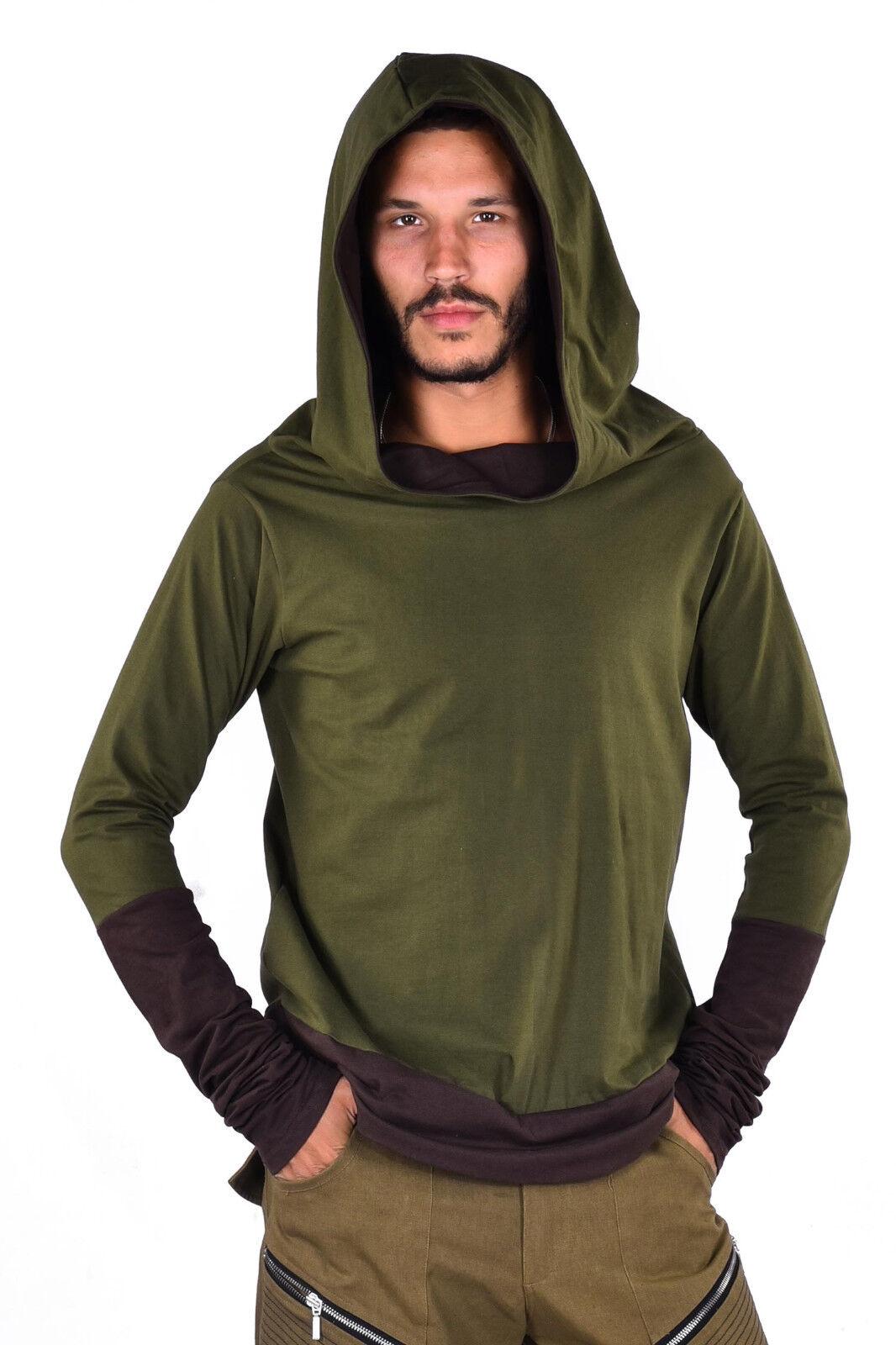 Mens Mens Mens Hooded Top, Hippy Hoodie, Long Sleeve Top, Mens Festival Shirts | Deutschland Frankfurt  9e31c4
