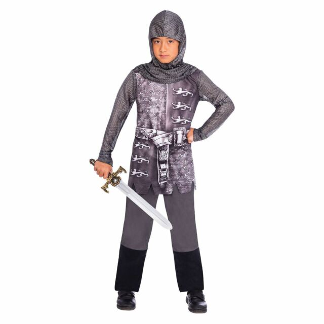 Boys Knight Costume Kids School Book Week Fancy Dress Outfit Medieval  Warrior