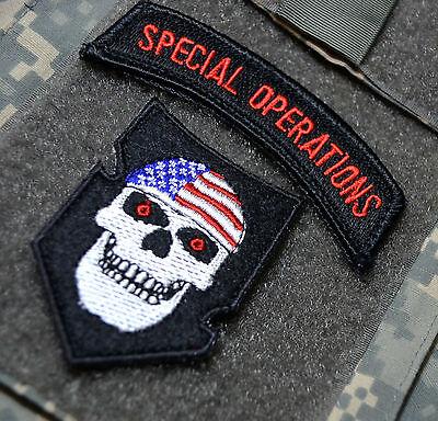 SEAL SPECIAL WARFARE ODA SAS JTF2 KSK SP OPS 2-TAB SET INFIDEL Inside US Flag