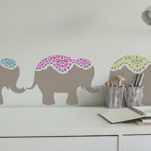 Image Is Loading Nellie Elephant Nursery Children 039 S Wall Stencil