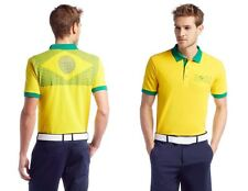 Hugo Boss Green Label Men's Yellow 2014 Paddy Flag Brazil Soccer Polo Shirt XL