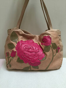 SUSANNAH-HUNTER-PINK-BLOOMSBURY-FLOWER-FLORAL-APPLIQUE-HANDBAG-BAG-RRP-490