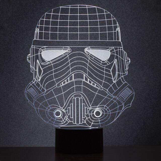 ORIGINAL stormtrooper casque lampe Wireframe lumière LED USB BUREAU officiel
