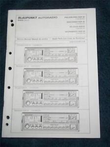 original blaupunkt autoradio service manual sqr 49 sqr 29 car radio rh ebay com