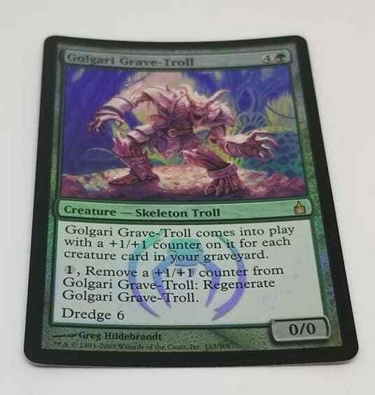 Golgari Grave-Troll Foil Magic the Gathering Ravnica Ravnica Ravnica MTG Rare NM Never Played e23711