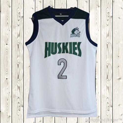 Lonzo Ball #2 Huskies Basketball Stitched Jersey High School Throwback White