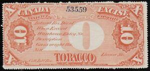 Canada-1870-Revenue-Tobacco-10-Pounds-Red-M-268-Fine-Unused-No-gum