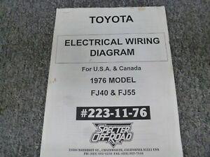 1976 Toyota Land Cruiser FJ40 & FJ55 Electrical Wiring ...