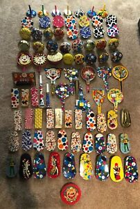 Huge Collection Lot Of 85 Vintage Party Noise Makers Tin Lithograph Toys Clicker