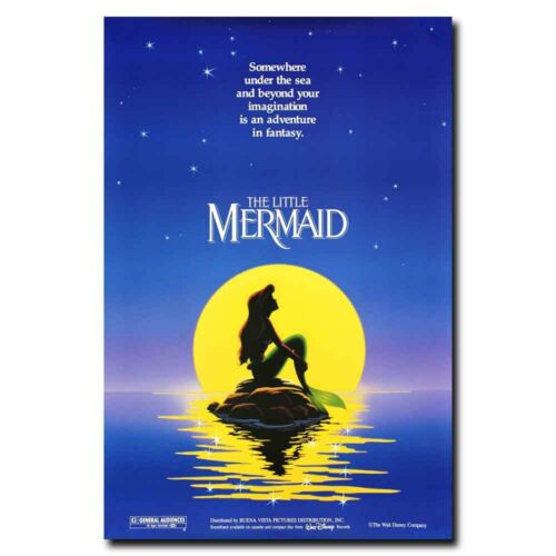 The Little Mermaid 12x18 24x36inch 80/'s Movie Silk Poster Hot Cool Gifts Decals