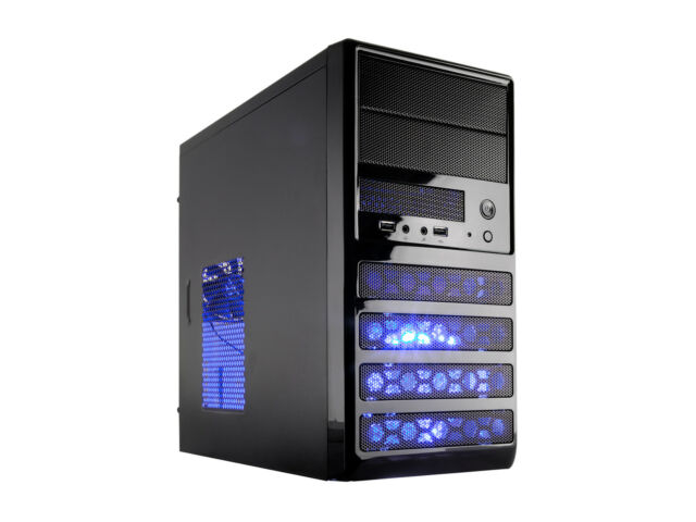 Rosewill RANGER-M Dual Fans MicroATX Mini Tower Computer Case w/ Blue LED Fan