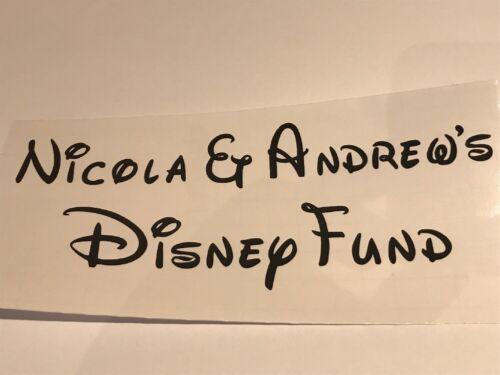 2 noms Disney Fund Autocollant Vinyle Disney texte