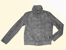 Damenjacke Jacke Lederimitat Kunstleder Übergangsjacke Bluson Gr. 44 L grau NEU
