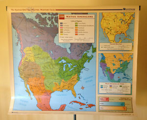 Image Is Loading Nystrom United States History Series School Map Us