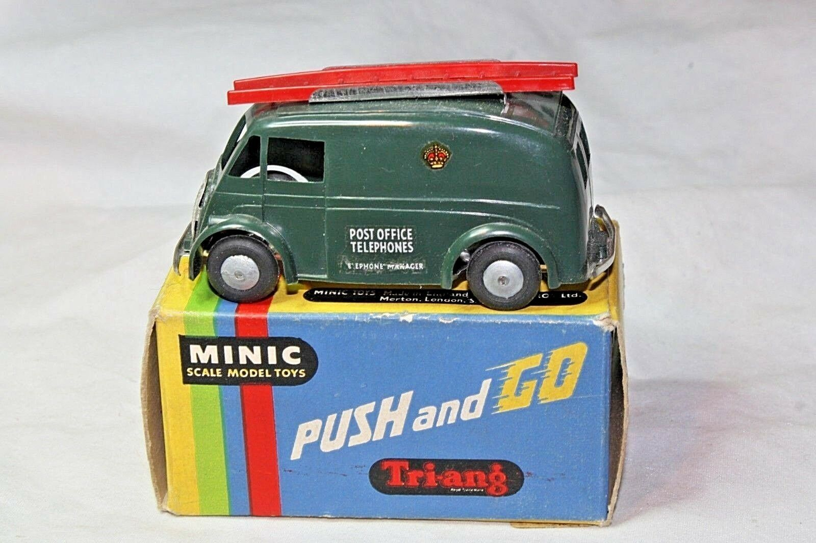 Triang Minic 3168 Post Office Telephone Push n Go Van Mint in Good Original Box