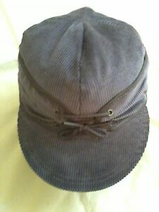 Image is loading Original-Corduroy-Railroad-Cap-Size-7-5-8- d481b082a35f