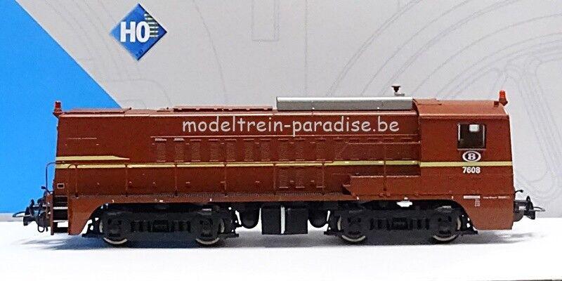 97767 ... PIKO ... NMBS   SNCB   Dieselloc  7608, .. tp DC    CC (2-rails)
