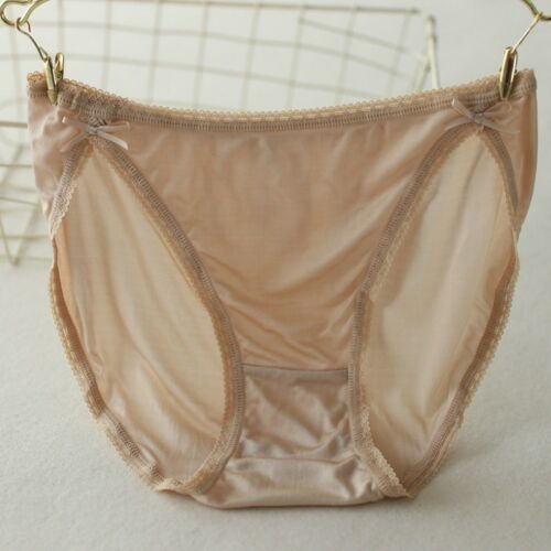 100/% Pure Silk Women Briefs Panties Knickers Underpants Lingerie Underwear Lace