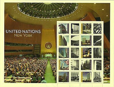 Weltweit United Nationen Scott # Ny 1055 M/s 2013 Komplettes Set Fvf Mnh